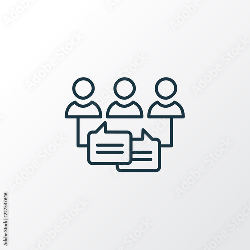 Fototapeta Audience engagement icon line symbol