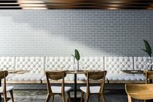 Gray Brick Cafe Interior
