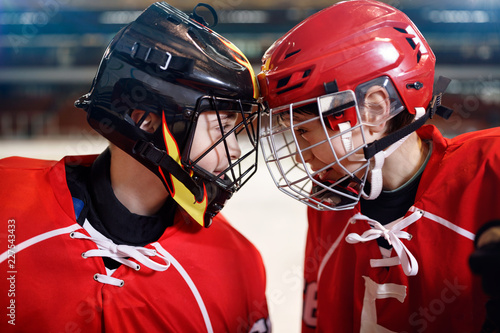 Ice Hockey - boys players.