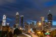 Skyline from city bridge