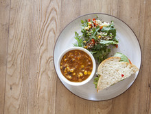 Soup, Salad And Sandwich
