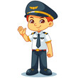 Pilot Boy Friendly Welcoming Pose