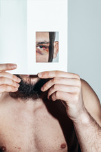 Eye,bruising,hide,beard