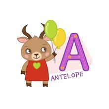 Vector Cute Kids Animal Alphab...