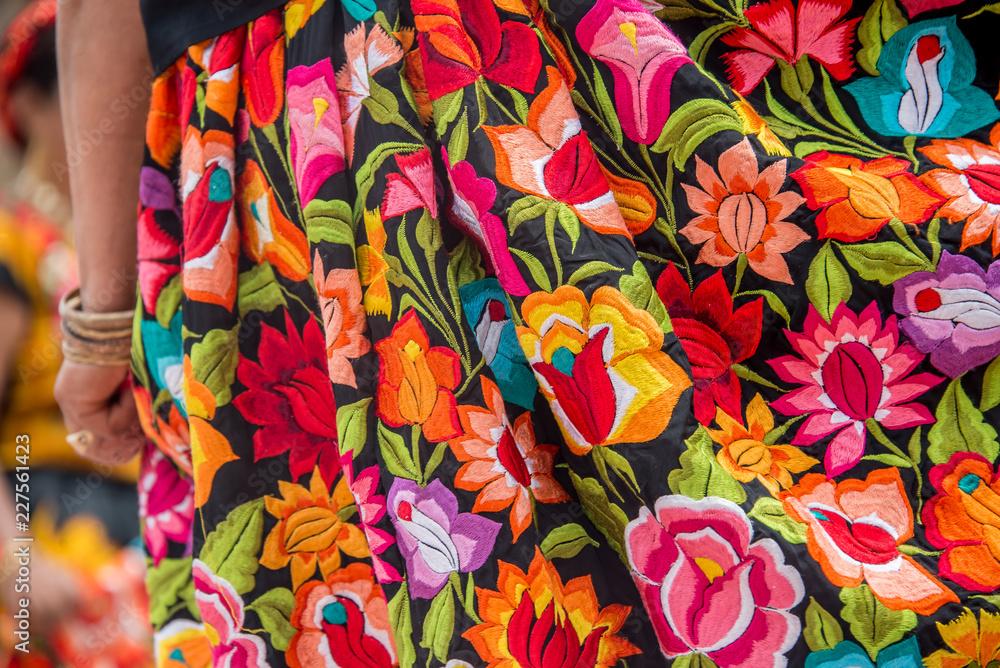 Fototapety, obrazy: bordados oaxaqueños