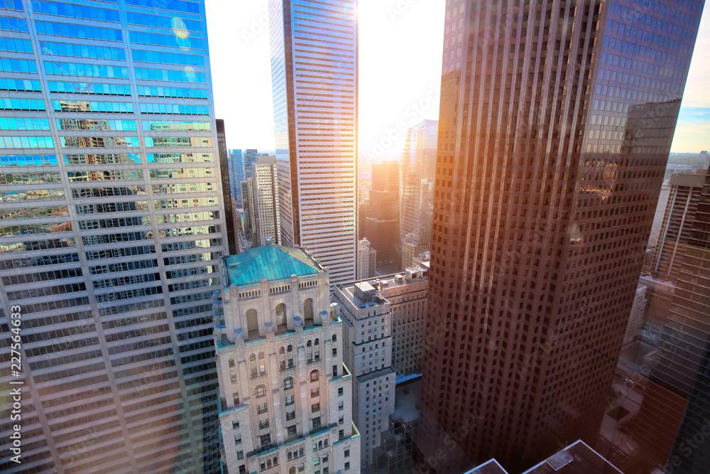 Fototapeta Toronto financial district skyline
