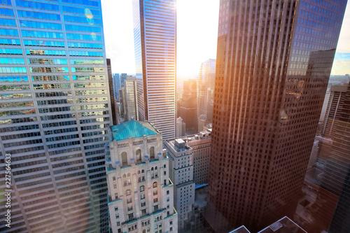 Toronto financial district skyline