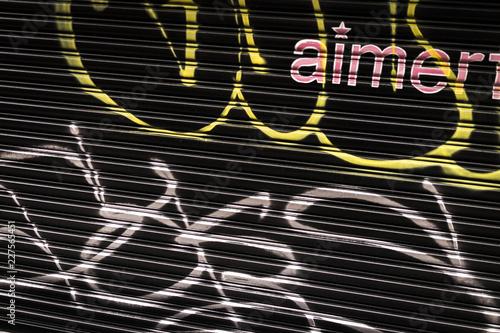 graffiti on store property