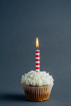 Cupcake With Birthday Candle O...