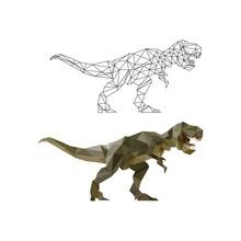 Polygonal Dinosaur Vector Graphic
