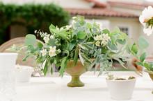 Romantic Garden Wedding Reception Table