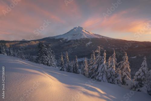 Fotobehang Zonsondergang Mount Hood Sunrise