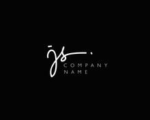 J S Initial Handwriting Logo