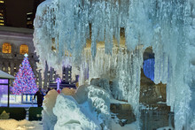 Close-up Of The Frozen Fountai...