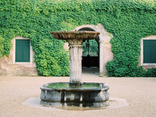 Fountain And Green Wall