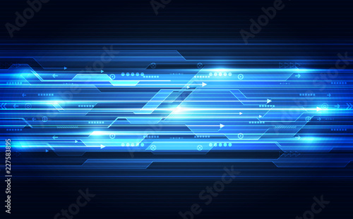vector future digital speed technology concept, abstract background illustration Fototapet