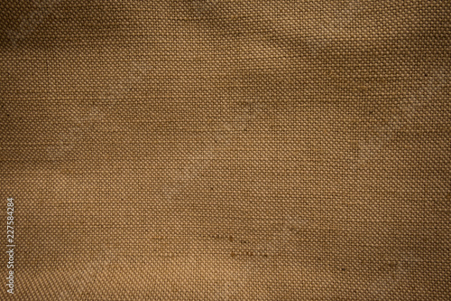 Foto op Aluminium Leder Natural brown sackcloth fabric textured for background.