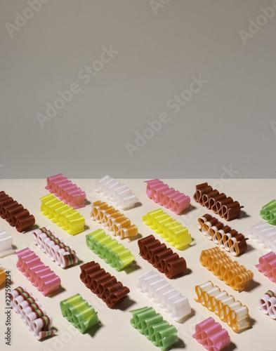 Foto op Aluminium Snoepjes Ribbon Candy