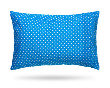 Blank Pillow Isolated On White...