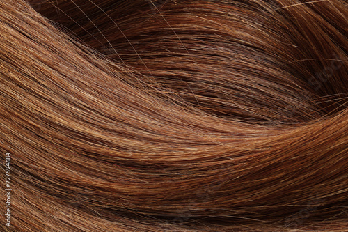 Fotografia Texture of healthy red hair as background, closeup