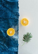 Still Life Of Sliced Oranges O...