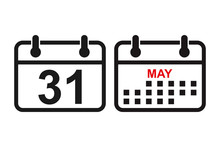 Calender Vector Icon. Calender Symbol Icon. Calendar Icon