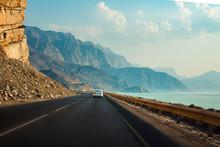 Khasab Coastal Road In Musandam Governorate Of Oman
