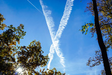 Traces Of The Plane In The Sky...