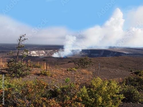 Valokuvatapetti ハワイ島にあるキラウエア火山のハレマウマウ火口