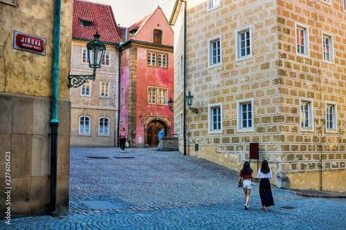 In de dag Centraal Europa Prag, Burgviertel