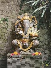 Stone Statue Of Oriental Ritual