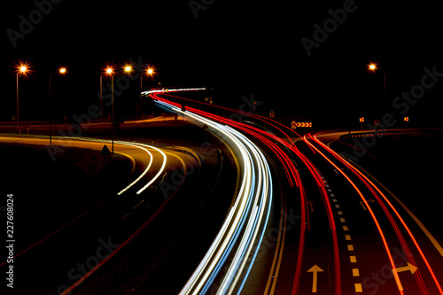 Foto op Canvas Nacht snelweg traffic on the highway at night