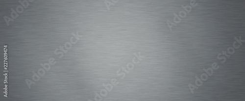 Cuadros en Lienzo Brushed steel plate background texture horizontal