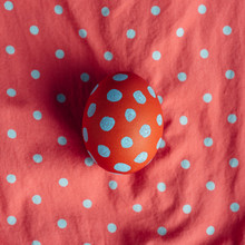 Polka Dot Egg On A Matching Pa...