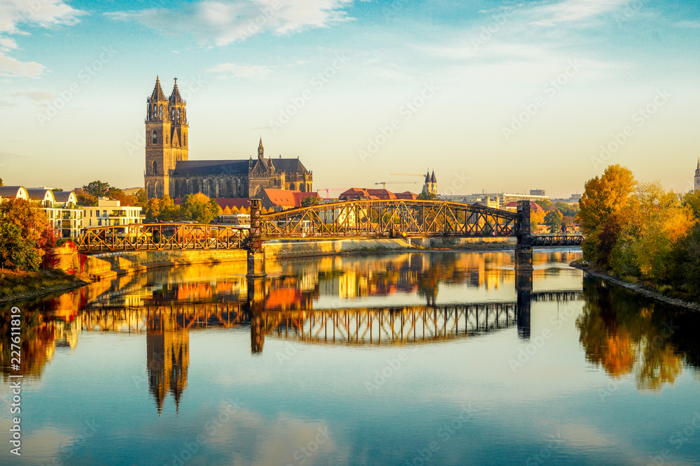 Fototapety, obrazy: Magdeburg an der Elbe