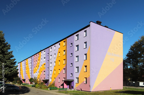 Yaslo Poland Oct 13 2018 Small Residential Apartment Building In Eastern Europe