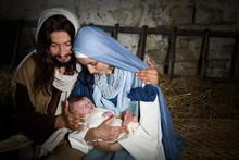 Nativity In A Barn