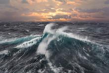 Sea Wave During Storm In Atlan...
