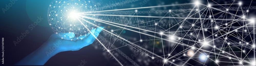 Fototapeta Artificial Intelligence - Power (futuristic design)