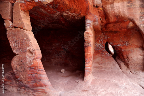 Foto op Aluminium Koraal Ruins of Petra, Lost rock city of Jordan, Middle East