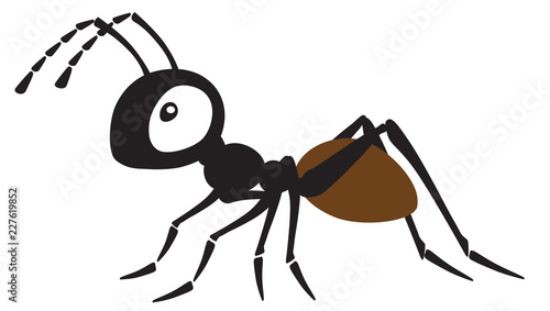 Photo cartoon ant insect