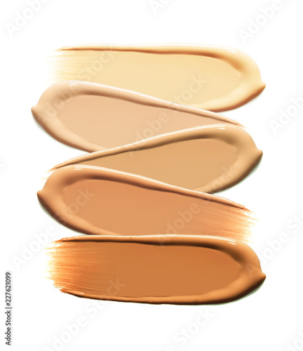 Fotografiet BB CC foundation smudged cream white isolated background