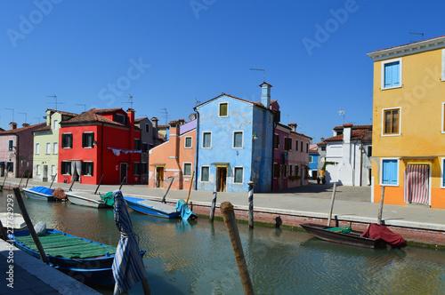 Fotografie, Obraz Murano blaues Haus