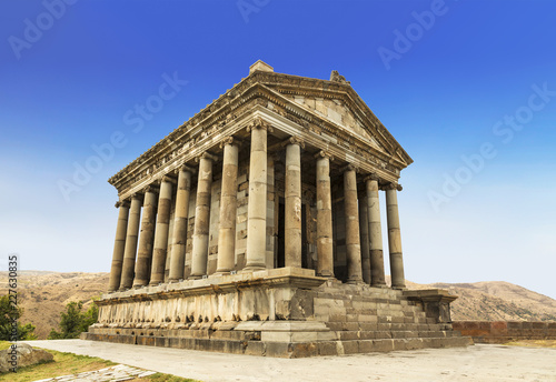 Spoed Fotobehang Bedehuis The temple of Garni - a pagan temple in Armenia was built in the first century ad by the Armenian king Trdat
