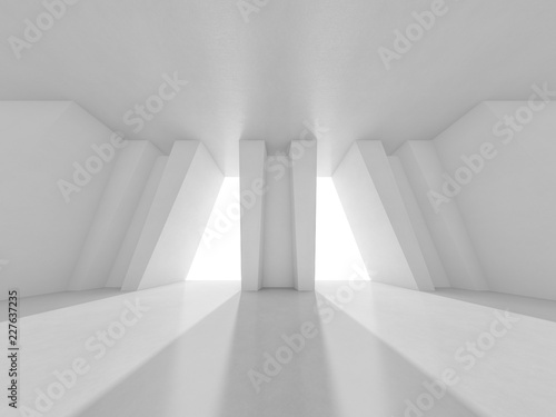 Fototapeta Abstract modern architecture background. 3D rendering obraz na płótnie