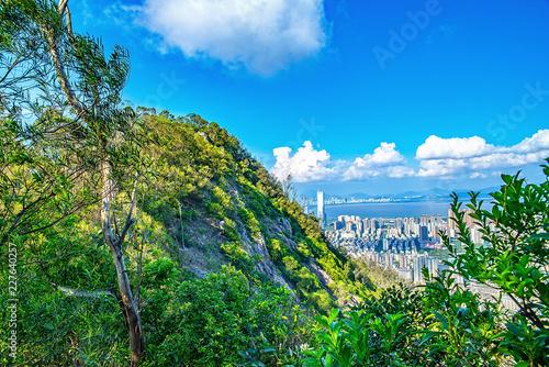 Foto op Aluminium Blauw Shenzhen Nanshan Park Peak Scenery