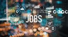 Jobs With Blurred City Abstract Lights Background