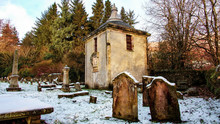 Small Chapel In A Disused Rural Graveyard.