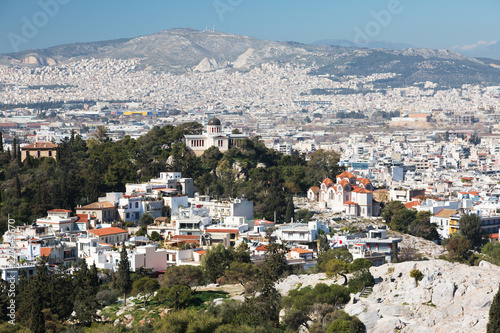 Fotografía View of Athens from a height, Greece
