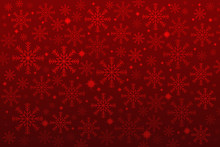 Snowflakes On A Red Background